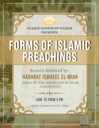 Traditional Islamic Sermon Flyer