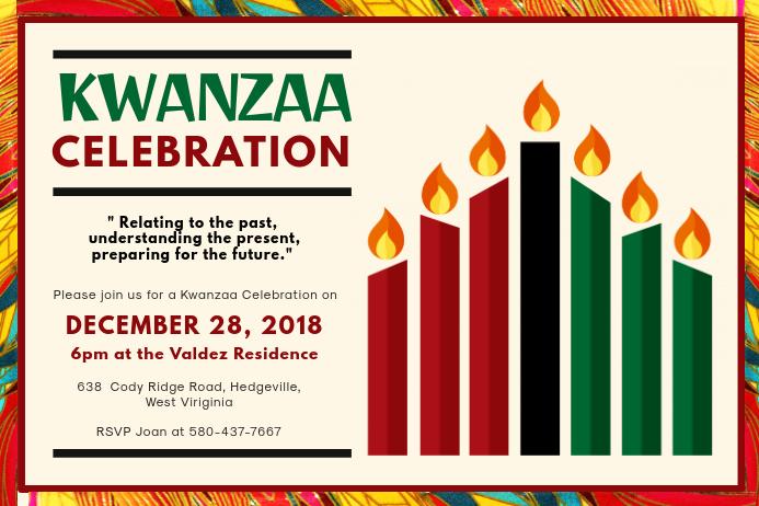 Traditional Kwanzaa Event Invitation Poster Template Póster