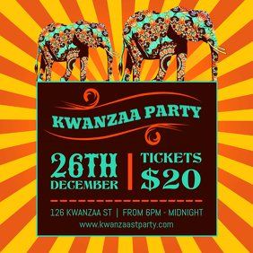 Traditional Kwanzaa Party Invitation Design