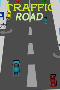 Traffic road Poster template