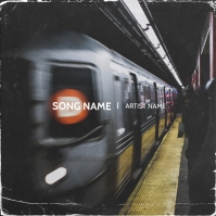 Train D NYC mixtape cover design template Albumcover