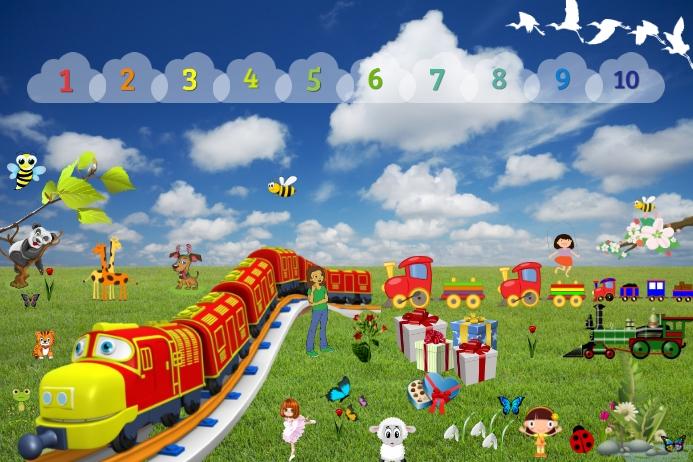 Train Cartel de 4 × 6 pulg. template