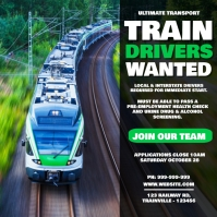 Train Drivers Wanted Poster template
