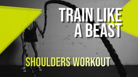 Train Like a Beast Youtube Thumbnail template