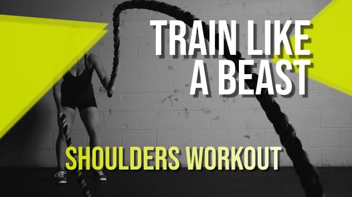 Train Like a Beast Youtube Thumbnail YouTube-miniature template