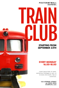 Train model Club Flyer Design Template