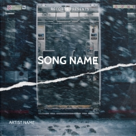 Train New York mixtape cover design template Albumcover