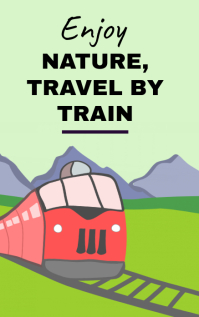 Train travel poster Sampul Buku template