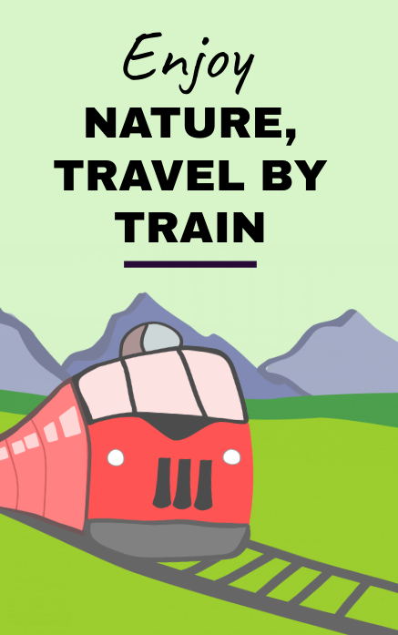Train travel poster