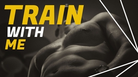 train with me youtube fitness inspirational t template