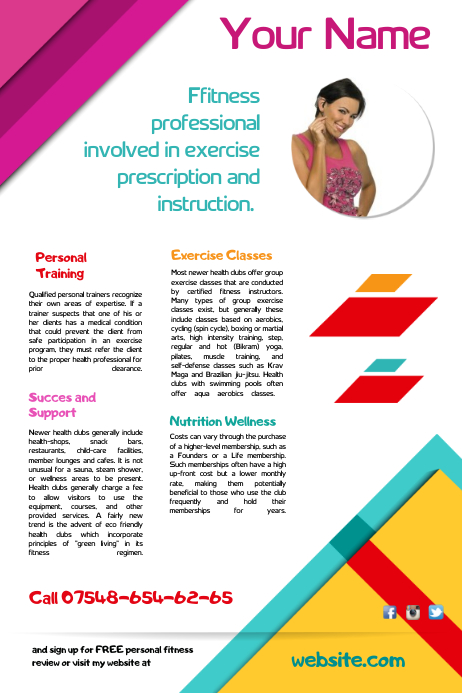 Training Poster Template Postermywall