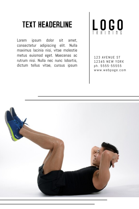 training gym fitness poster template