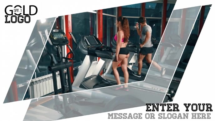 Training gym health video advertising template for facebook