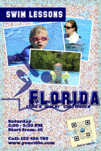 Training and sport flyer - Swim lesson