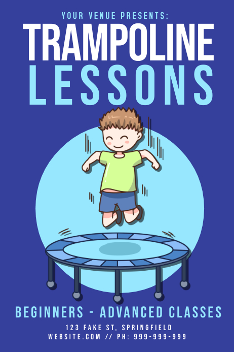 Trampoline Lessons Poster