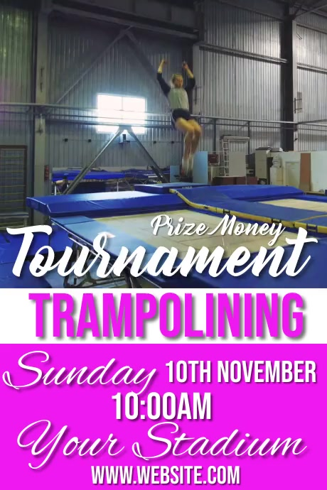 trampolining Poster template