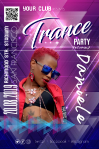 Trance Night Party Disco Poster Flyer Affiche template