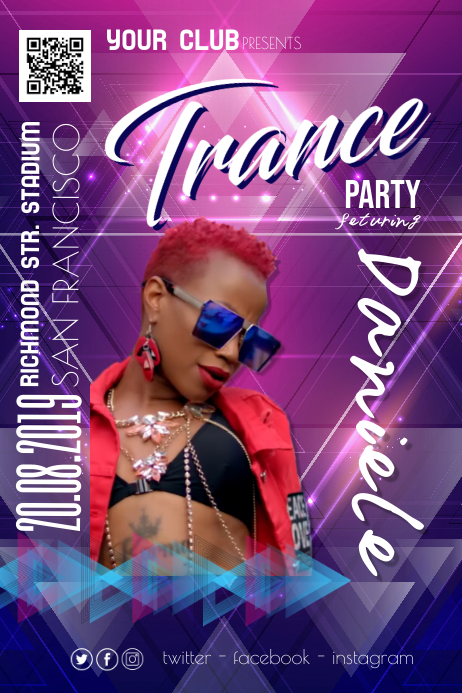 Trance Night Party Disco Poster Flyer