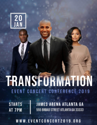 Transformation Event Flyer (US Letter) template