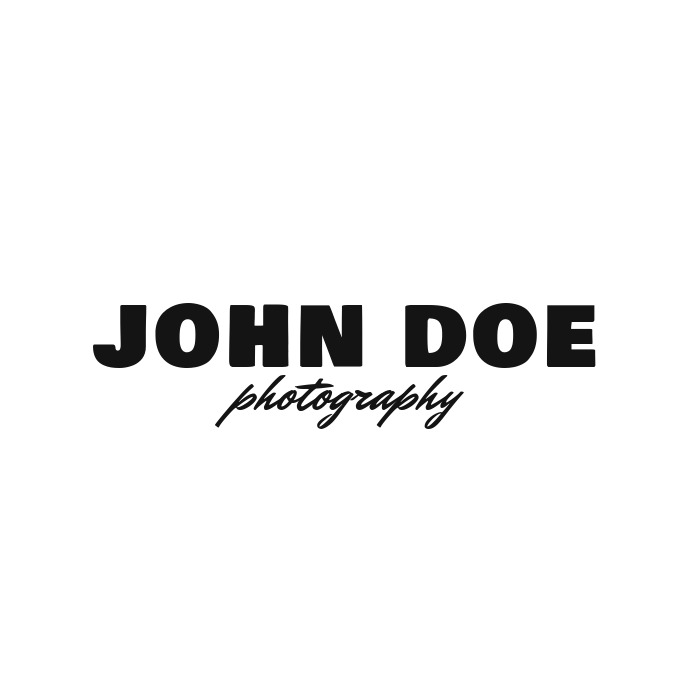 Transparent photography logo