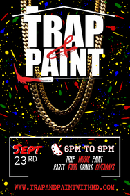 Trap & Paint Party Invitation