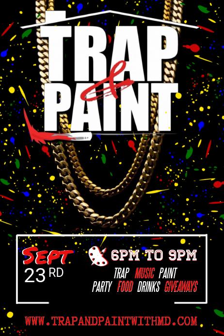 Trap & Paint Party Invitation