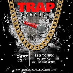 Trap Karaoke Party Invitation