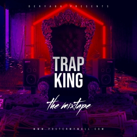 Trap King Throne The Mixtape CD Cover Okładka albumu template
