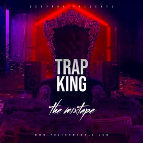 Trap King Throne The Mixtape Video CD Cover template
