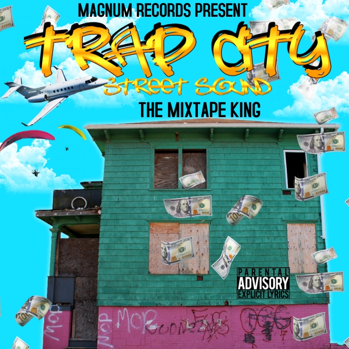 Trap Mixtape cover Albumcover template