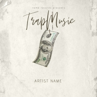 Trap Music Album CD Mixtape Cover Template