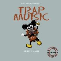 TRAp music Mixtape/Album Cover A template