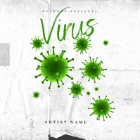 Trap virus Mixtape Cover Art Template Album Omslag