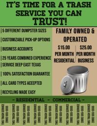 Trash Service Flyer Pamflet (Letter AS) template