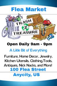 trash to treasure flea market template postermywall