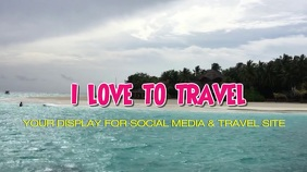 Travel, Holiday, social media, header in 4k video