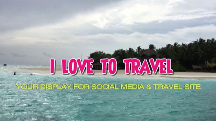 Travel, Holiday, social media, header in 4k video