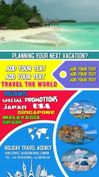 Travel, poster, holiday, video, background flyer