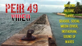 TRAVEL, SEASIDE, PIER, BEACH, SOCIAL MEDIA VIDEO COVER Digital na Display (16:9) template