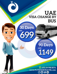 Travel & Tourism UAE visa change by Bus
