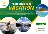 Travel Ad Design Postal template
