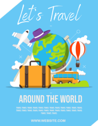 TRAVEL AD FLYER TEMPLATE