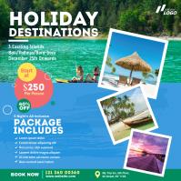 Travel Agency Ad Publicación de Instagram template