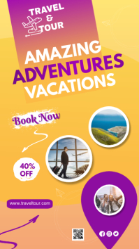 Travel Agency Ad Instagram Story template