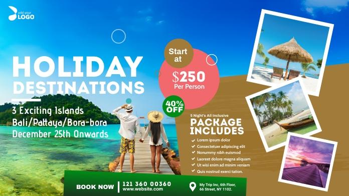 Travel Agency Ad Twitter-bericht template