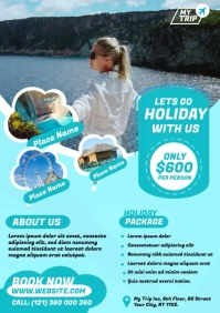 travel agency ad template A4