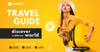 travel agency ad template Facebook begivenhed cover