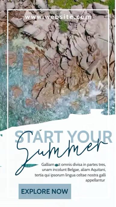 travel agency advertisement online Instagram Story template