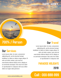 Travel Agency Advertisement Promotion Flyer & Poster Templat