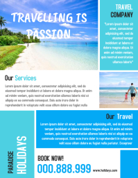 Travel Agency Advertisement Promotion Flyer and Poster